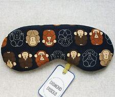 Eye Sleep Mask 3 Wise Monkeys Japanese Cotton Travel Gift Blackout Relax UK Made