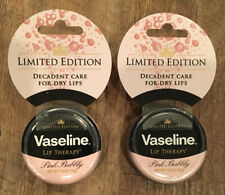(2)Vaseline Limited Edition Lip Therapy PINK BUBBLY With Wine Extract .6 Oz Each