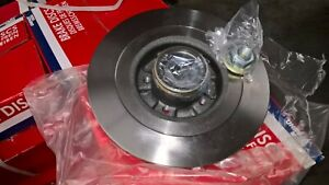 Renault Scenic Mk1 Rear Brake Discs with Incorporated Bearing & ABS Ring