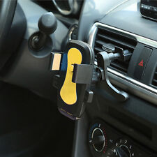 Yellow Car Mobile Cell Phone Gps Air Vent Bracket Mount Cradle Holder Stand Clip