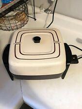 Vintage PRESTO Electric Skillet Fry Pan Non-Stick Submersible #0661203 ~ USA !