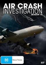 BRAND NEW Air Crash Investigations : Season 16 (DVD, 2018, 3-Disc Set) *PREORDER