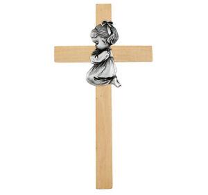 Praying Baby Girl Pewter First Cross