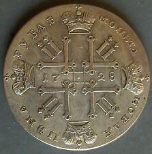 Russian coin 1 Ruble dated 1728