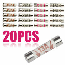 20x 5A-13A Ceramic Household Domestic Mains Plug Top Fuses Electrical Cartridges