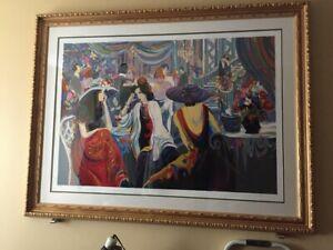 "Isaac Maimon ""Ballroom Dancing"" Framed Print"