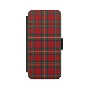 Tartan Red Pattern Scotland  Flip Wallet Phone Case