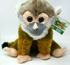 "Wild Republic Squirrel Monkey Plush Stuffed Animal 12"" OriginalTag Cuddlekins D5"