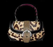 COACH Ltd Ed MADISON EXOTIC OCELOT HAIRCALF TOP HANDLE EVENING BLING BAG PURSE