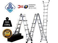 Scala Professionale Telescopica in Alluminio pieg. 5X4 gradini Universale 5,48m