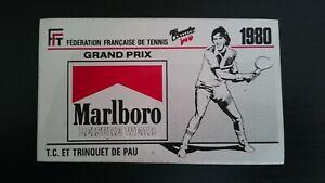 Autocollant Marlboro Leisure Wear Grand Prix Tennis Pau 1980