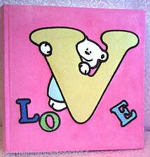 Baby Girl, Newborn,Baby Shower,Pink Velour/Velvet Deluxe Large Photo Album -Love