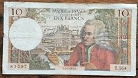 Billet 10 francs VOLTAIRE 5 - 3 - 1970 FRANCE T.564