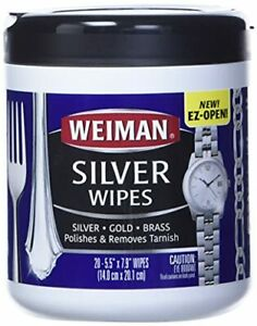 Weiman Silver Cleaning Polishing Wipes