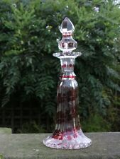 ANTIQUE VICTORIAN CONTINENTAL BOHEMIAN? GLASS DECANTER / SCENT BOTTLE