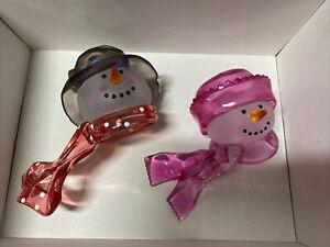 Boy Girl Snowman Large Bottle Toppers for Wine Liquor Bottle Christmas