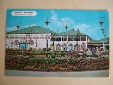 Postcard BUTLIN'S MINEHEAD, Typical flower garden. Used 1963. Standard size.