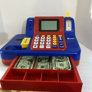 Pretend & Play Kid's Calculator Cash Register,  Preowned With Bills Only Works