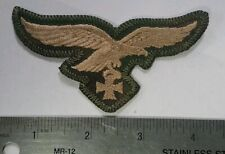 WWII German Luftwaffe Breast Eagle Iron Cross Tan & Water Camo Sumpfmuster