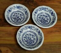 Kensington Coventry Blue Set of 3 Bowls Staffordshire Ironstone England Onion