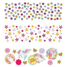 MAGICAL UNICORN CONFETTI VALUE PACK ~ Birthday Party Supplies Decorations Foil