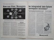 1/1964 PUB HONEYWELL SPACEMEN AEROSPACE MISSION HELMET MOUNTED TARGET SIGHT AD