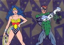 DC STARS 1994 SKYBOX U PICK SINGLE FOIL INSERT CARDS F3 AND F4 D.C. COMICS