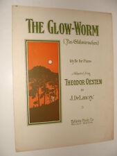 The Glow Worm Das Gluhwurmchen 1909 Theodor Oesten  J DeLancey piano solo