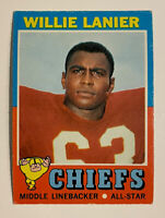 1971 Topps Willie Lanier Rookie #114 - Kansas City Chiefs - HOF RC