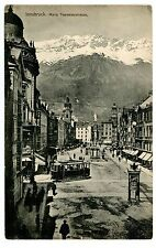 Innsbruck Austria -TROLLEY AT MARIA THERESIENSTRASSE- Postcard