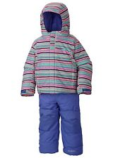 New NWT COLUMBIA Snowsuit Bib Pants Coat Jacket set Girl 3T Winter FROSTY SLOPE