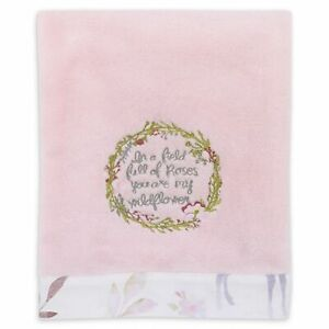 Watercolor Deer Embroidered Baby Blanket by NoJo