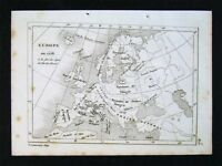 c. 1835 Levasseur Map - Europe in 1556 at end of Reign of Charles V Spain