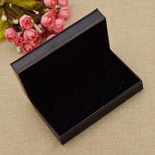 Mens Jewelry Case Black Cufflinks Storage Empty Gift Box Organizer 14x8x4.2cm