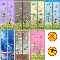 Blumen Magnet Fliegengitter für Türen Insektenschutz Türvorhang Moskitonetz