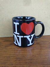 I Love New York Souvenir Coffee Cup Jay Joshua Black Red Heart Mug Euc