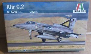 ITALERI KFIR C.2 1:72 SCALE MODEL KIT ISRAELI MULTIROLE COMBAT AIRCRAFT