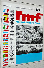 RMF RAIL MINIATURE FLASH N°57 1967 TRAINS LOCOMOTIVES HO CC-7000 7100 PICO JOUEF