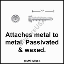 (3000) 10-16x1 Hex Washer Head 410 Stainless Self Drilling TEK Screw #138054