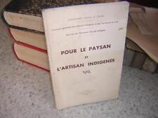 1939.pour paysan et artisan indigènes.agriculture algérie