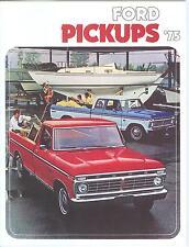 1975 FORD TRUCK SALES BROCHURE-F--100/F-150/F-250/F-350-4-WHEEL DRIVE-FULL COLOR