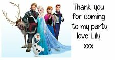 Personalised Frozen Party Bag Stickers Labels Favours Sweet Cones Avery Template