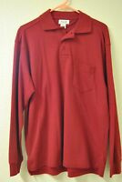 BRAND NEW BOCA CLASSICS POLO LONG SLEEVE MEN'S SIZE S RED COLOR