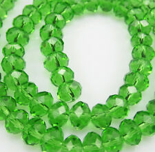 Jewelry Facete 50pcs Rondelle glass crystal #5040 4x6mm Bead Grass Green BCF8W26