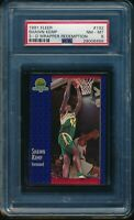 PSA 8 SHAWN KEMP 1991-92 Fleer 3D Acrylic Wrapper Redemption #192 RARE NM-MINT