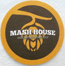 MASH HOUSE BREWING Beer COASTER, Mat with HOPS Fayetteville, NORTH CAROLINA 2014