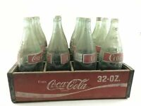 Vintage Lot Of 12 Coca-Cola Bottles W/ Crate-3791