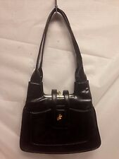 Vintage Lou Taylor Leather Purse Made In Italy Black Immaculate!