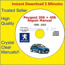 PEUGEOT 206 + 406 Workshop Service Repair Manual MOTORE CORPO COUPE