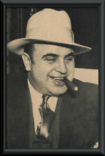 Al Capone Photo Reprint On 80 Year Old Paper Godfather Mafia Mob La Cosa Nostra